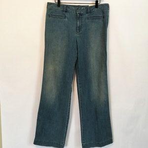 Ann Taylor LOFT Trouser Wide Leg Jeans Light Wash